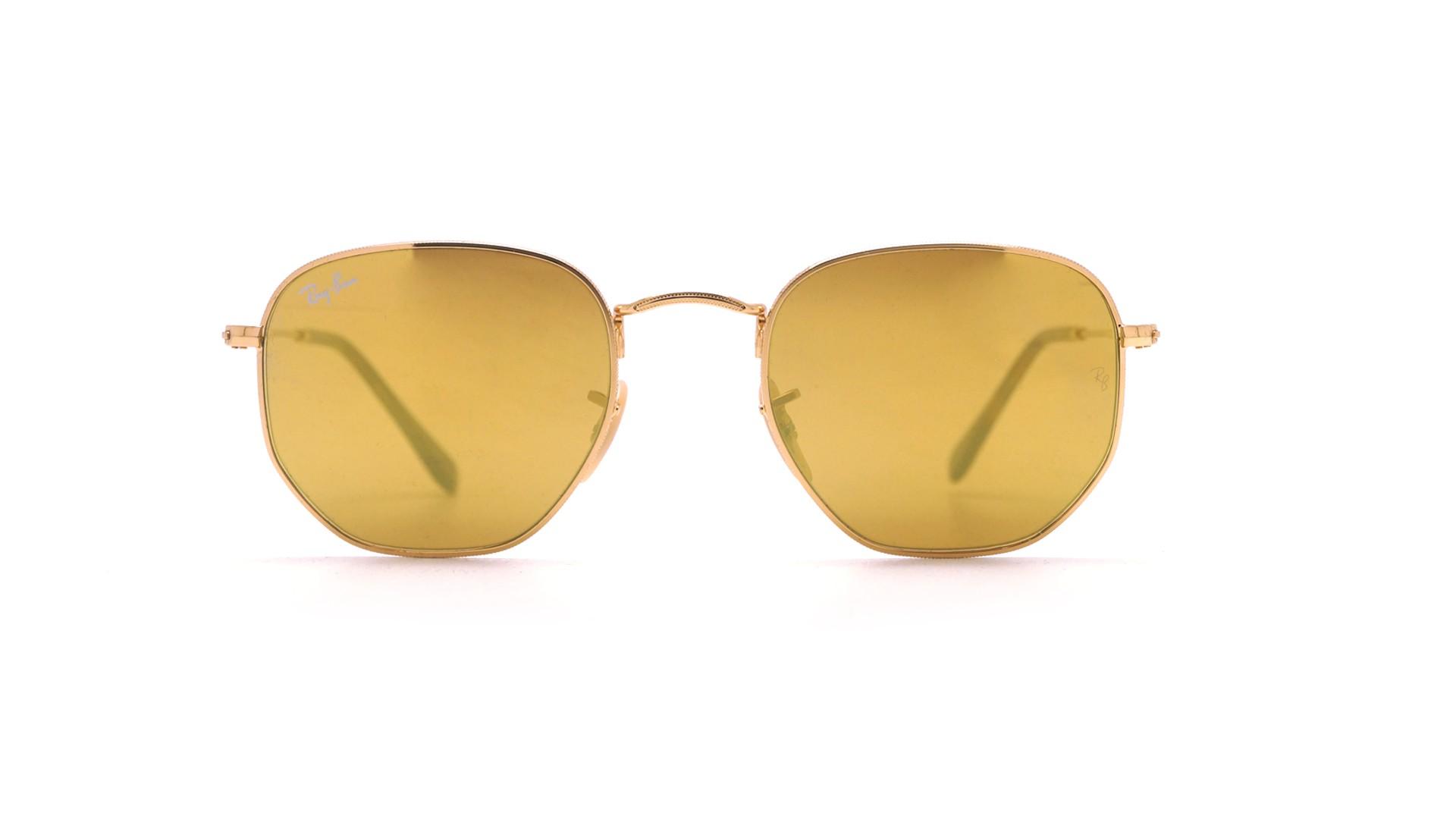 Ray ban miroir jaune for Miroir jaune