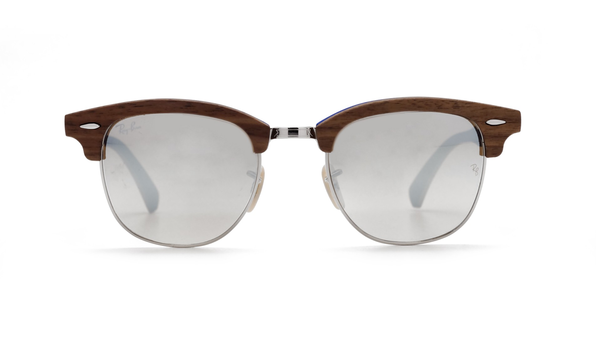 brown ray ban clubmaster  Ban Clubmaster Wood Brown Matte RB3016M 12179U 51-21