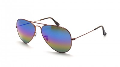 Ray-Ban Aviator Large Metal Rainbow Brun Mat RB3025 9019/C2 58-14 87,42 €