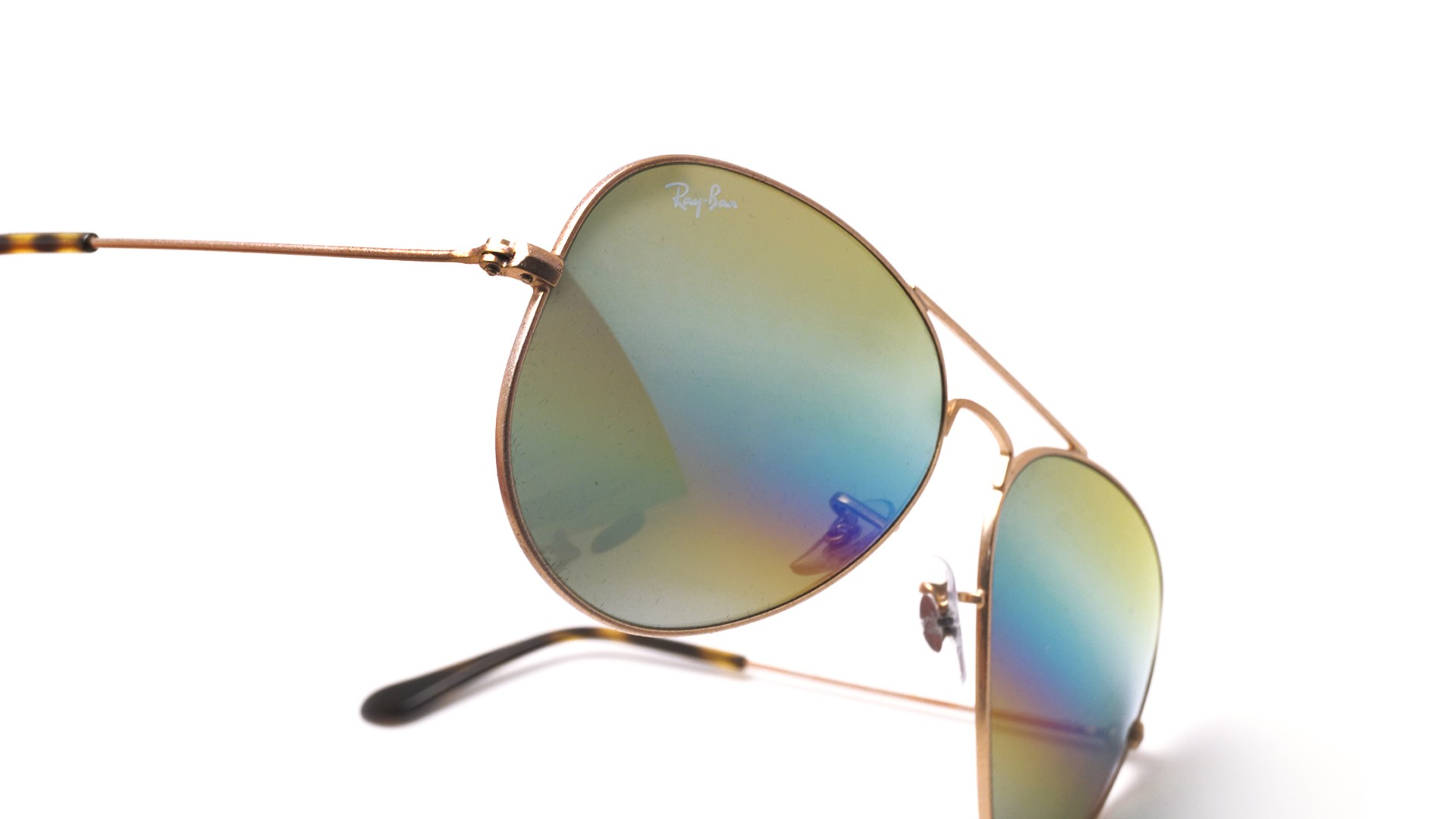 f1a75d2045 Ray-Ban Aviator Metal Rainbow Gold Matte RB3025 9020 C4 58-14