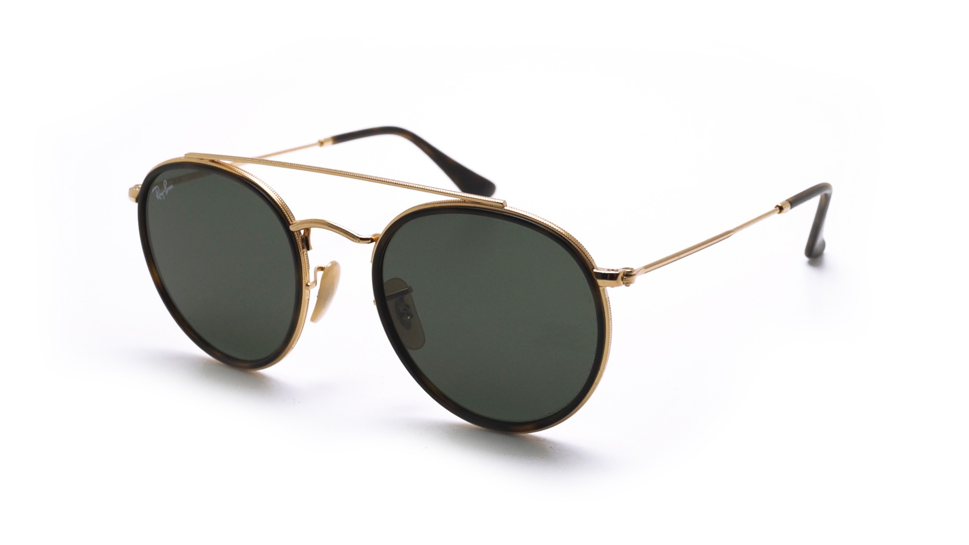 Ray Ban Round Double Bridge Gold Rb3647n 001 51 22