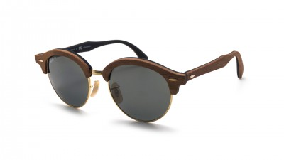 Ray-Ban Clubround Wood Brown Matte RB4246M 118158 51-19 Polarized 171,58 €