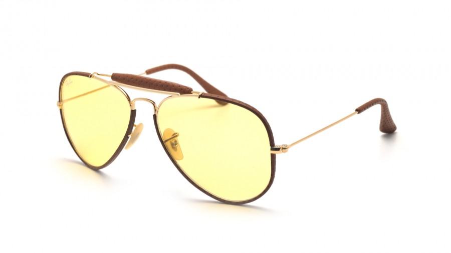 fcb0f66b9d118 Lunettes de soleil Ray-Ban Outdoorsman Craft Brun RB3422Q 9042/A4 58-14  Large Photochromiques