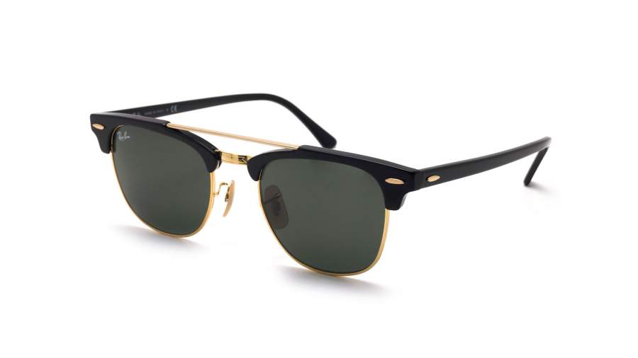 Ray-Ban Clubmaster Double Bridge Black RB3816 901 51-21 ...