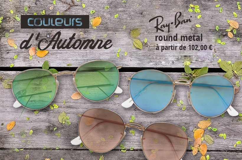 rayban round metal, RB 3447