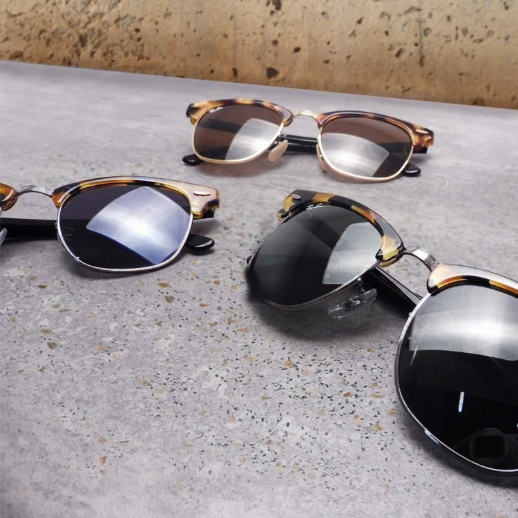 lunettes de soleil ray ban clubmaster homme et femme visiofactory. Black Bedroom Furniture Sets. Home Design Ideas