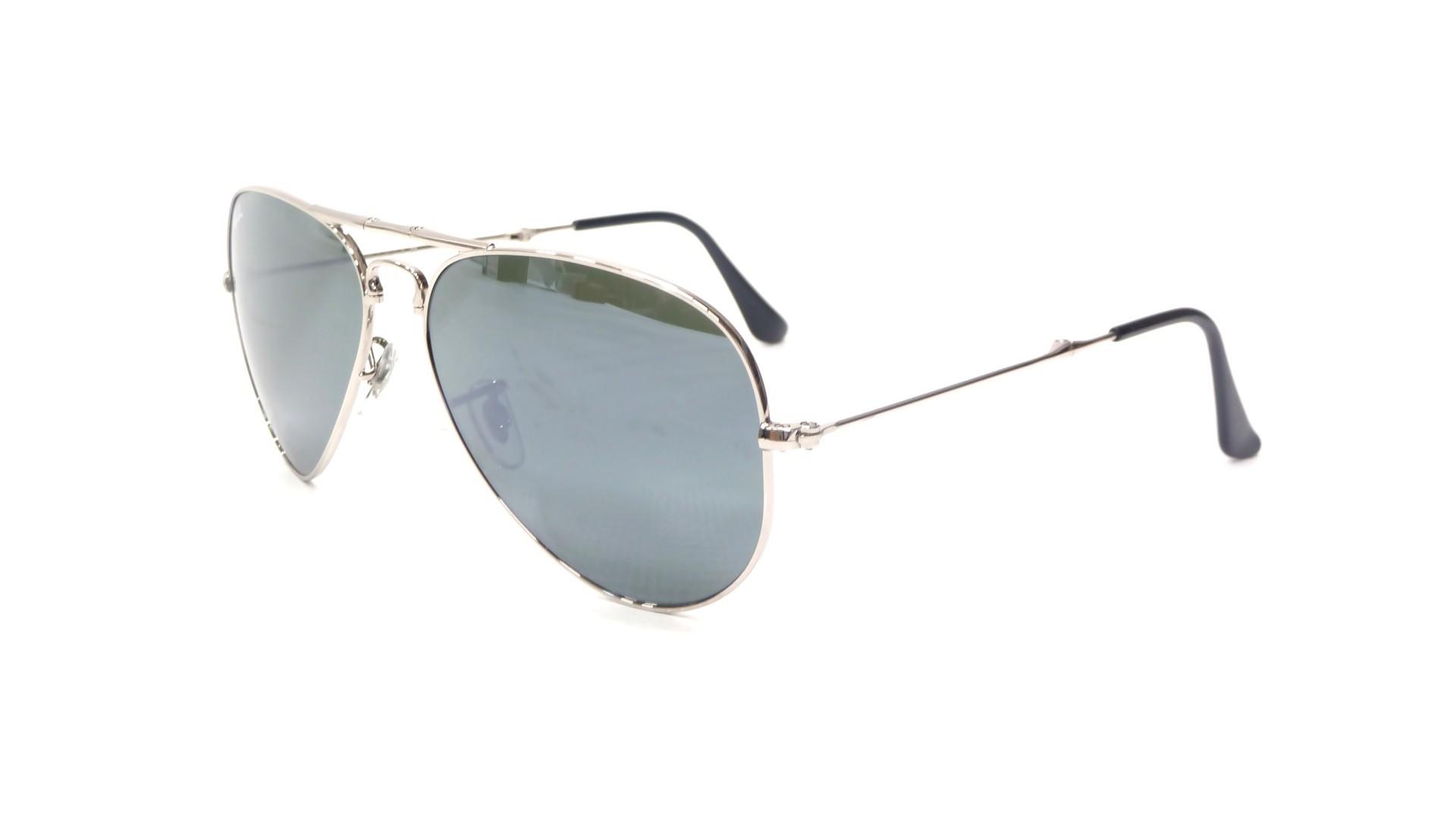 lunettes de soleil ray ban aviator silver mirror