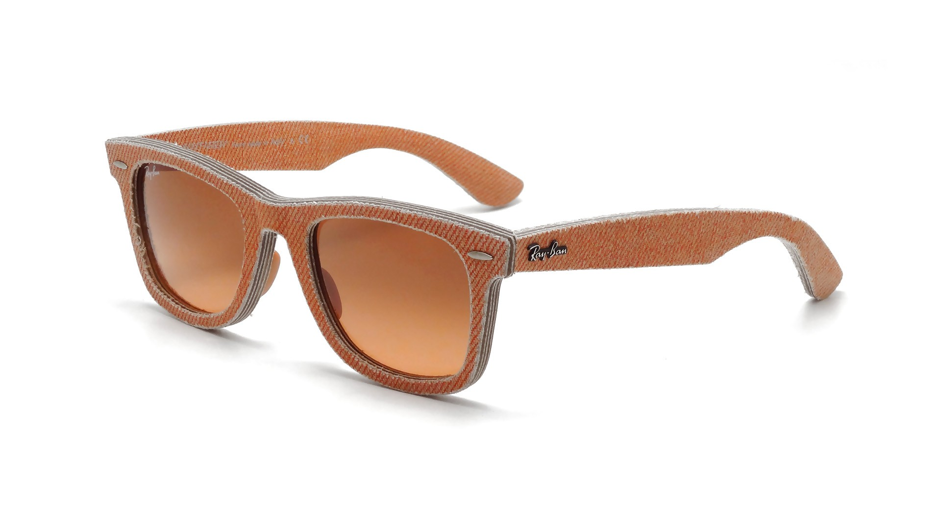 Ray Ban RB 2140 Original Wayfarer Denim 1165 3C Orange ...