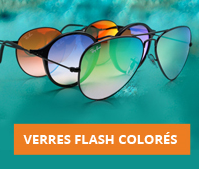 Verres flash colorés