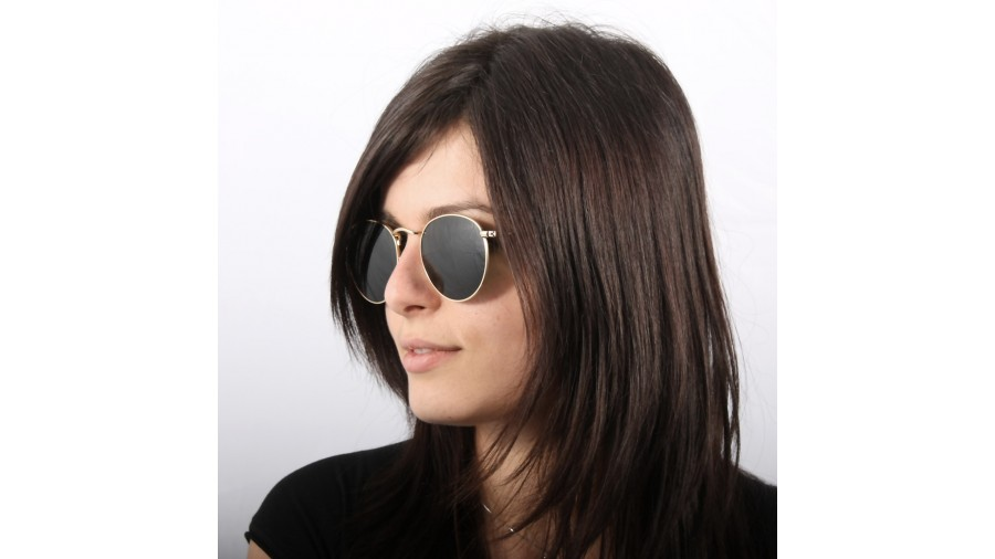 11a21a35e9012d Ray-Ban Round Metal Or RB3447 001 50-21   Prix 82,95 €   Visiofactory