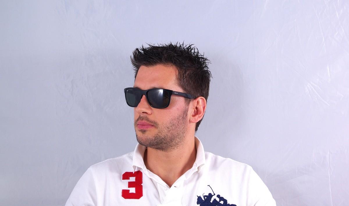 908ba7c182 Sunglasses Ray-Ban RB4181 601 57 Black Large