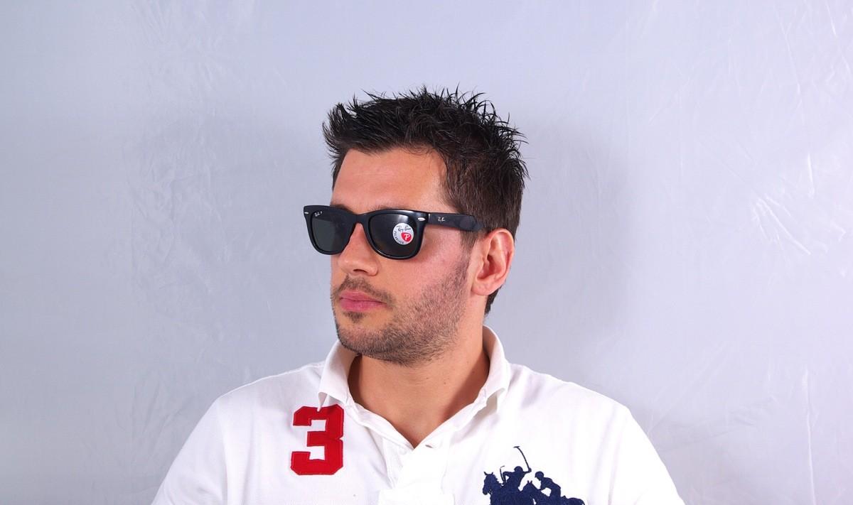 589916d0423 Sunglasses Ray-Ban Original Wayfarer Black RB4105 601 58 50-22 Medium  Pliantes Polarized
