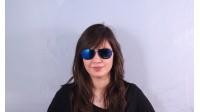 Lunettes de soleil Police S 8651 568B Blue MirrorEd lenses