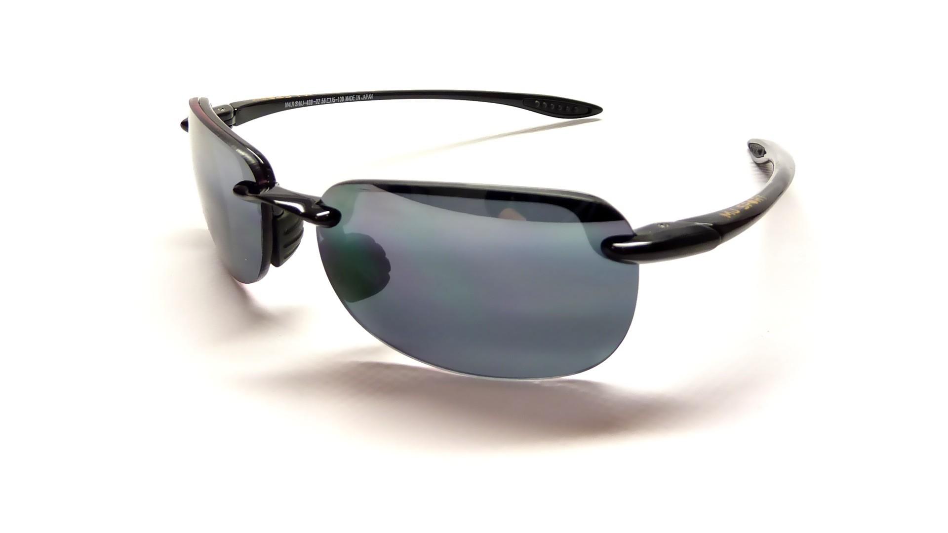 8a3f34eeb3e Maui Jim Sandy beach Black 408-02 56-15 Polarized