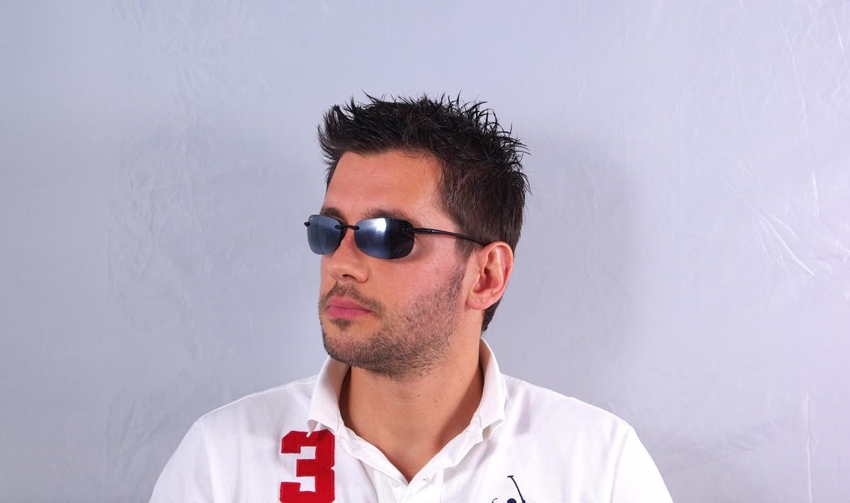 0959c838a344 Sunglasses Maui Jim Sandy beach Black 408-02 56-15 Large Polarized Mirror