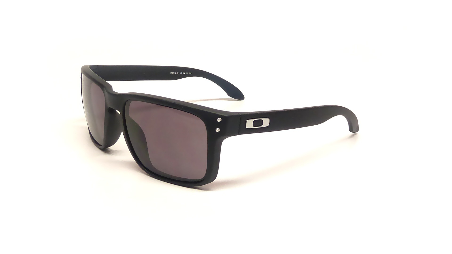 f6d5352876e Sunglasses Oakley Holbrook Black Matte OO9102 01 55-18 Medium