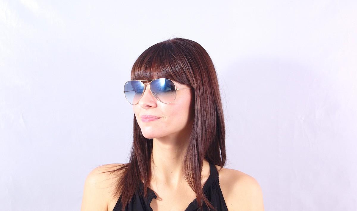 7e919d98e64 Sunglasses Ray-Ban Aviator Large Metal Gold RB3025 001 3F 62-14 Large  Gradient
