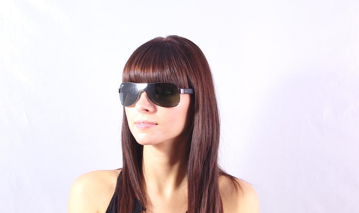 5c880efe48 Sunglasses Ray-Ban Mask Emma Black RB3471 004 71 32 Small