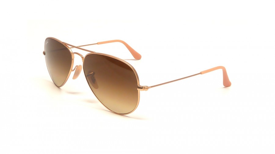 ray ban aviator medium braun