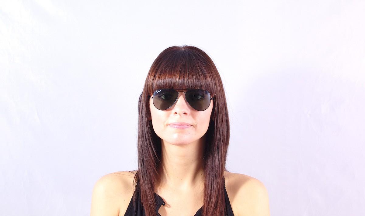 Sunglasses Ray-Ban Aviator Large Metal Black RB3025 002 58 55-14 Small  Polarized cc6513da0b