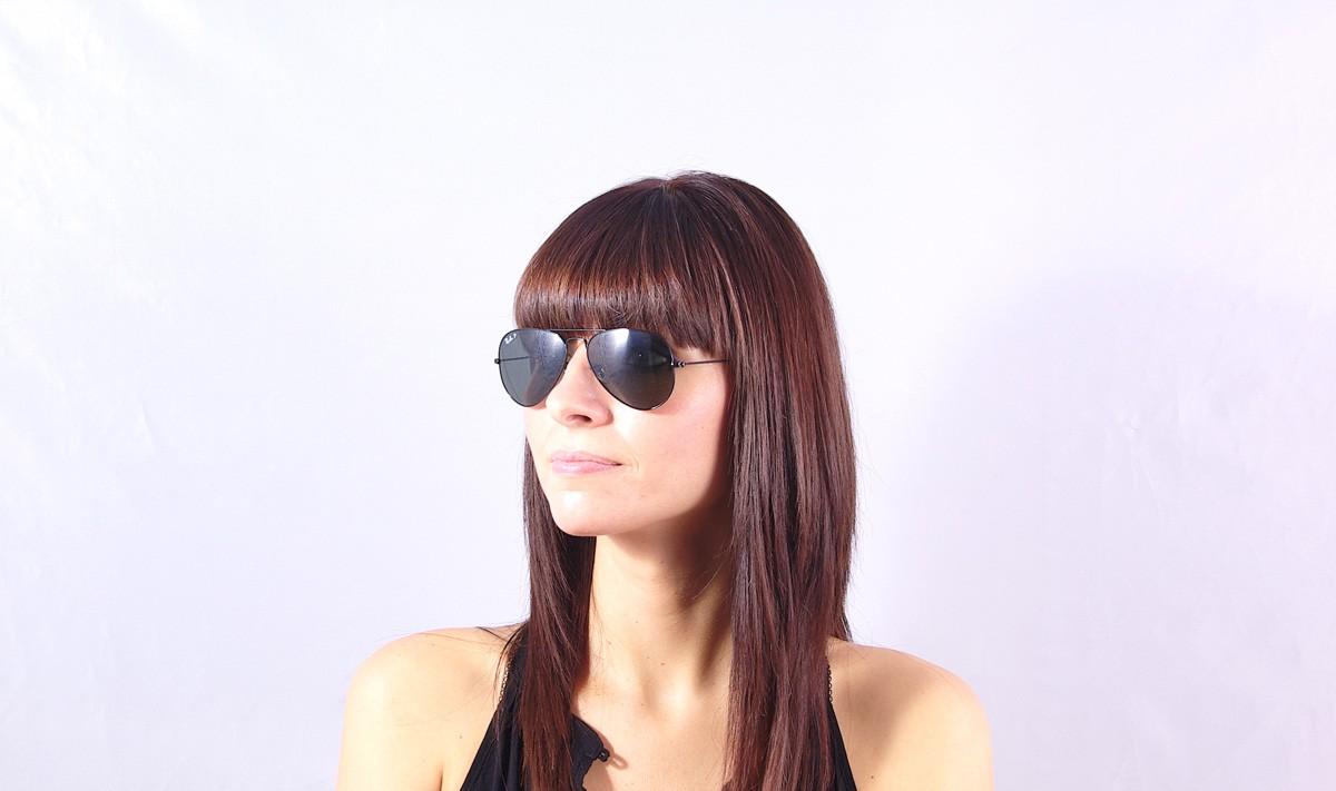 d3284f206e Sunglasses Ray-Ban Aviator Large Metal Black RB3025 002 58 55-14 Small  Polarized