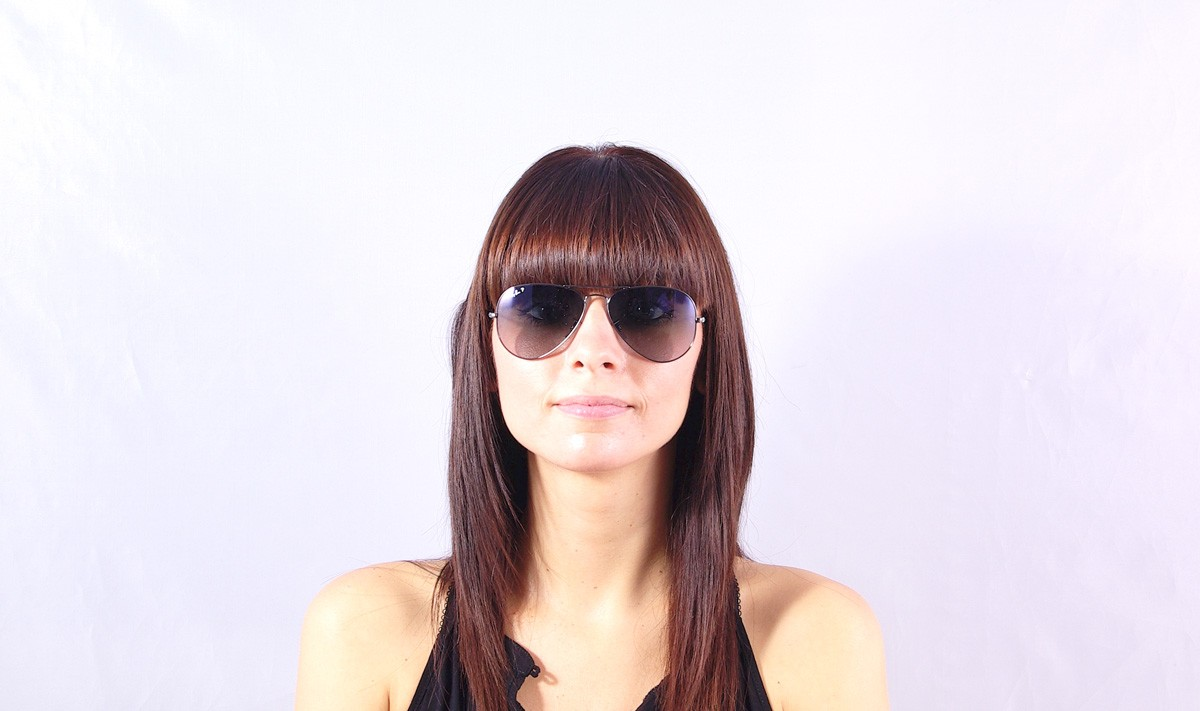 Sunglasses Ray-Ban Aviator Large Metal Silver RB3025 004 78 58-14 Medium  Polarized Gradient 46d121b34c72