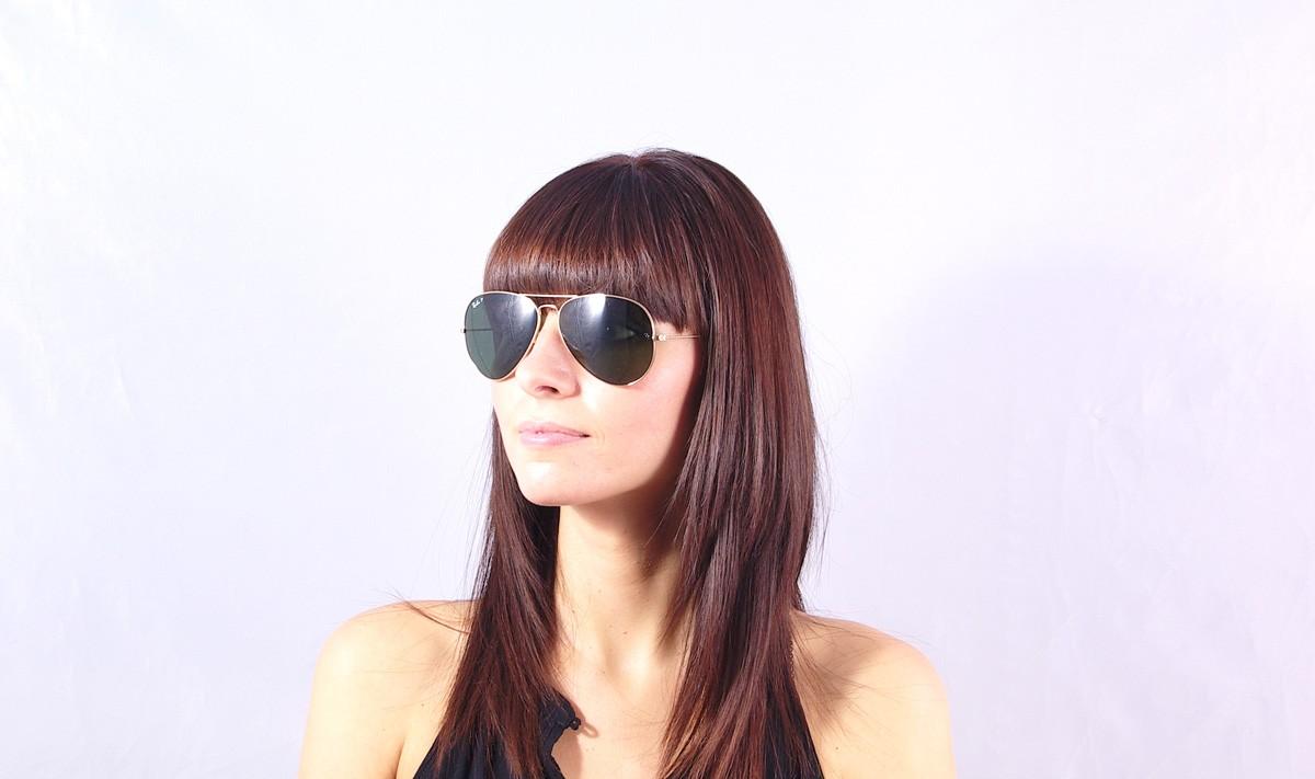 04578e21202ea Sunglasses Ray-Ban Aviator Large Metal Gold RB3025 001 58 62-14 Large  Polarized