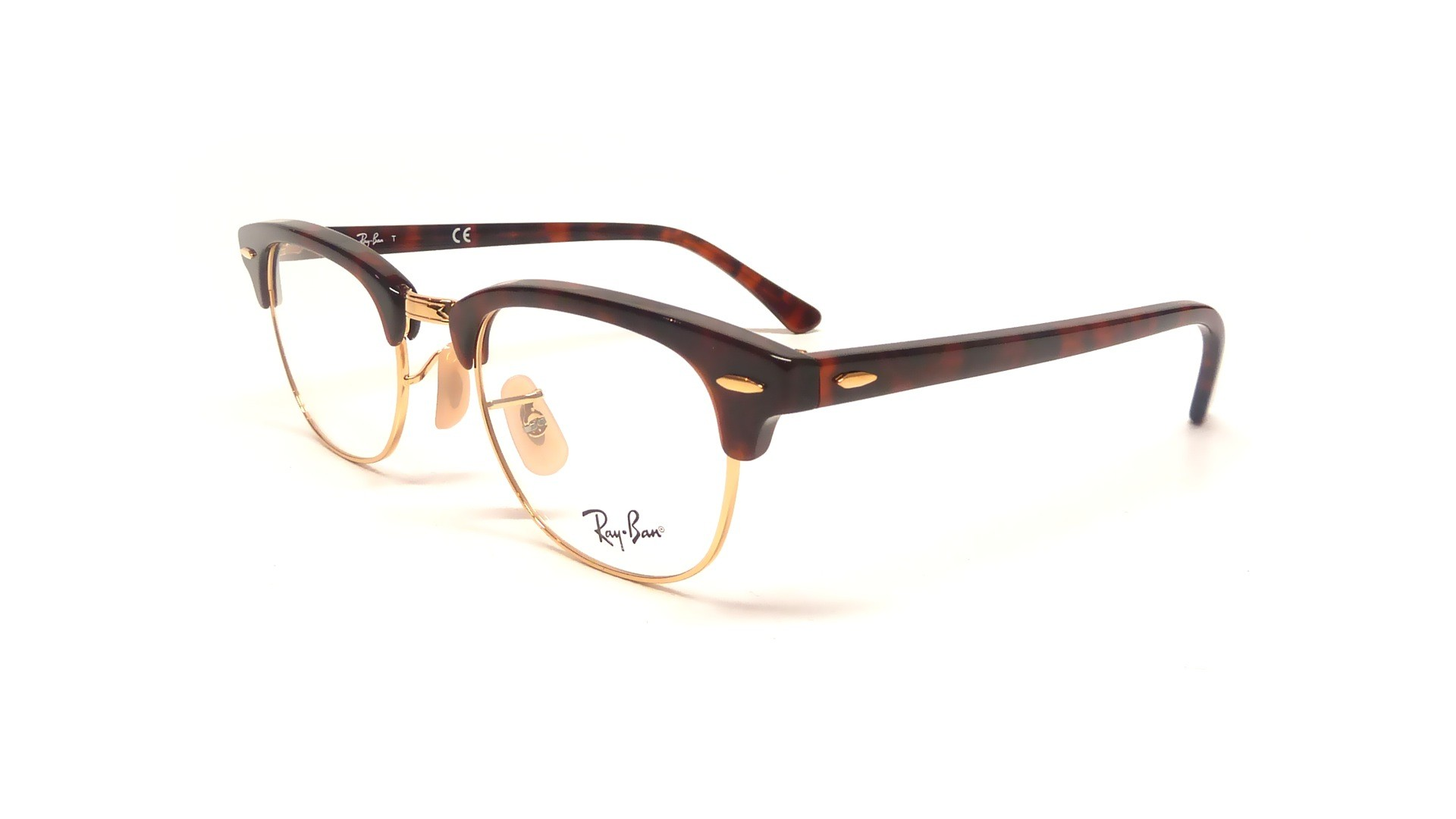 f3e3abad1f Lunettes de vue Ray-Ban Clubmaster Tortoise RX5154 RB5154 2372 49-21 ...