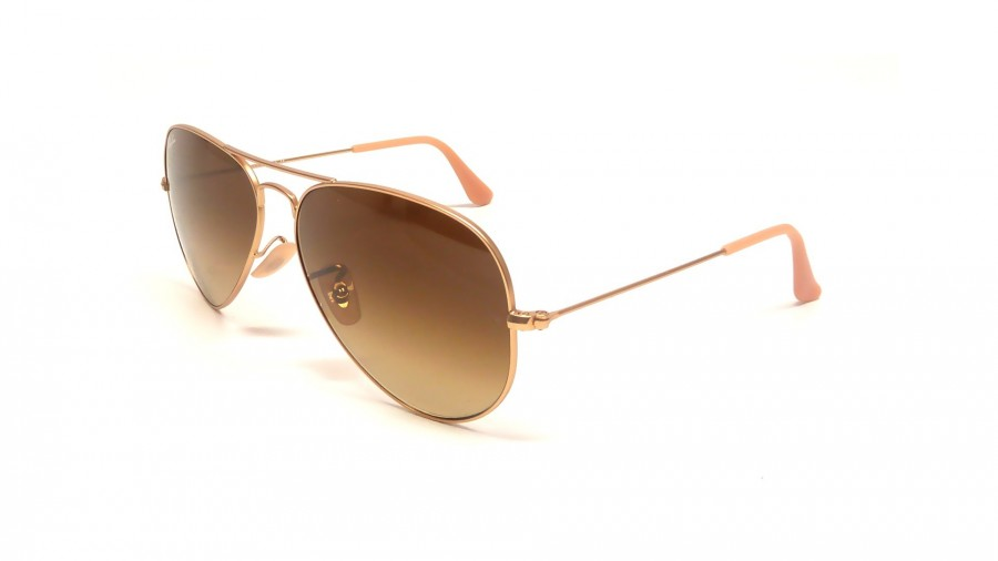 Rb3025 Aviator Large Metal 112/85 Matte Gold Brown Gradient 58/14 135 bLzUuazNh