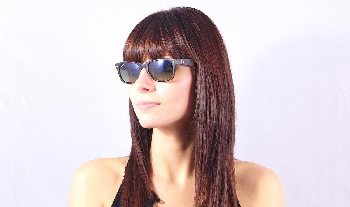 d9c5d059a6 Sunglasses Ray-Ban New Wayfarer Tortoise RB2132 894 76 52-18 Medium  Polarized Gradient