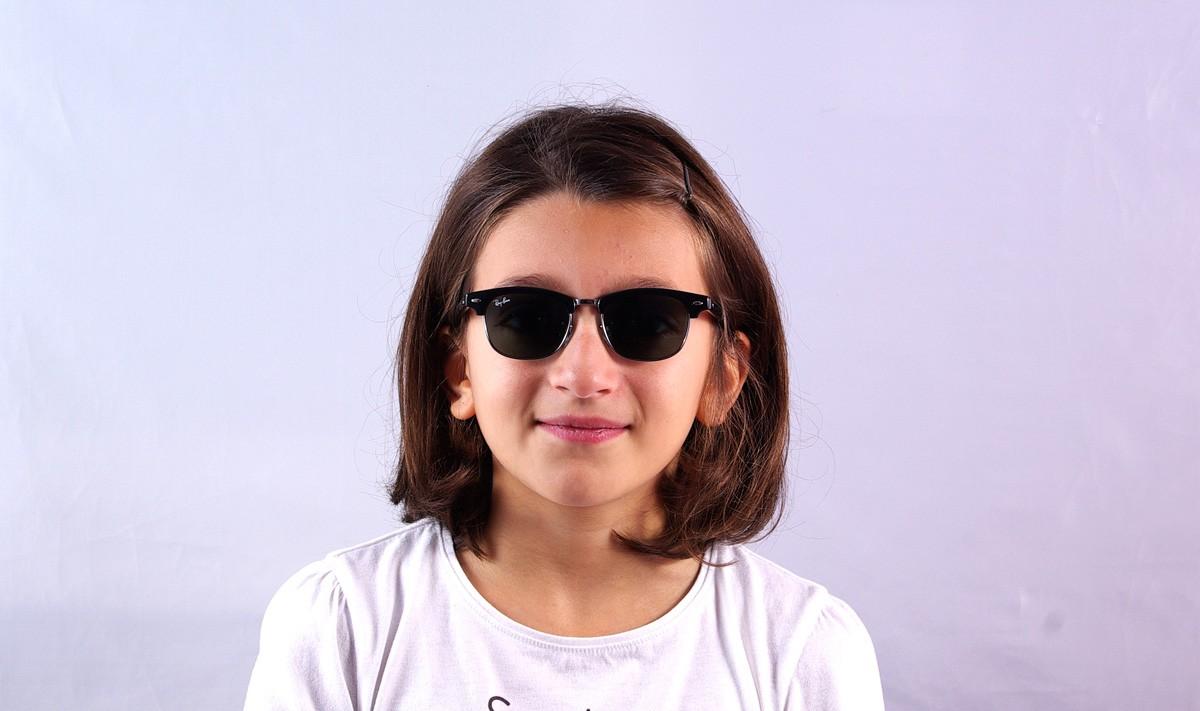 42fad6a9042c1 Ray-Ban Clubmaster Enfant Noir RJ9050S 100/71 45-16 | Prix 49,90 € |  Visiofactory