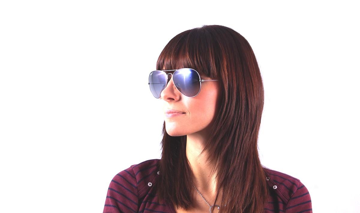 e5dddf449534b Sunglasses Ray-Ban Aviator Large Metal Silver RB3025 004 78 62-14 Large  Polarized Gradient
