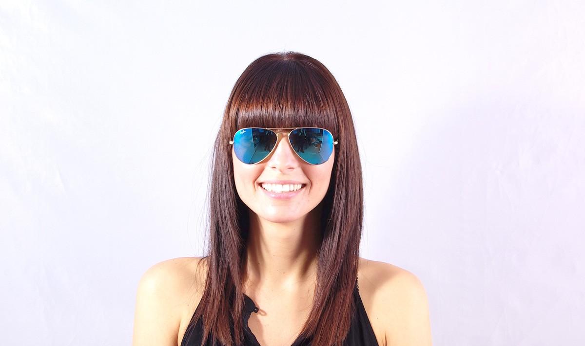 889e07a33c Sunglasses Ray-Ban Aviator Large Metal Gold RB3025 112 17 55-14 Medium  Mirror