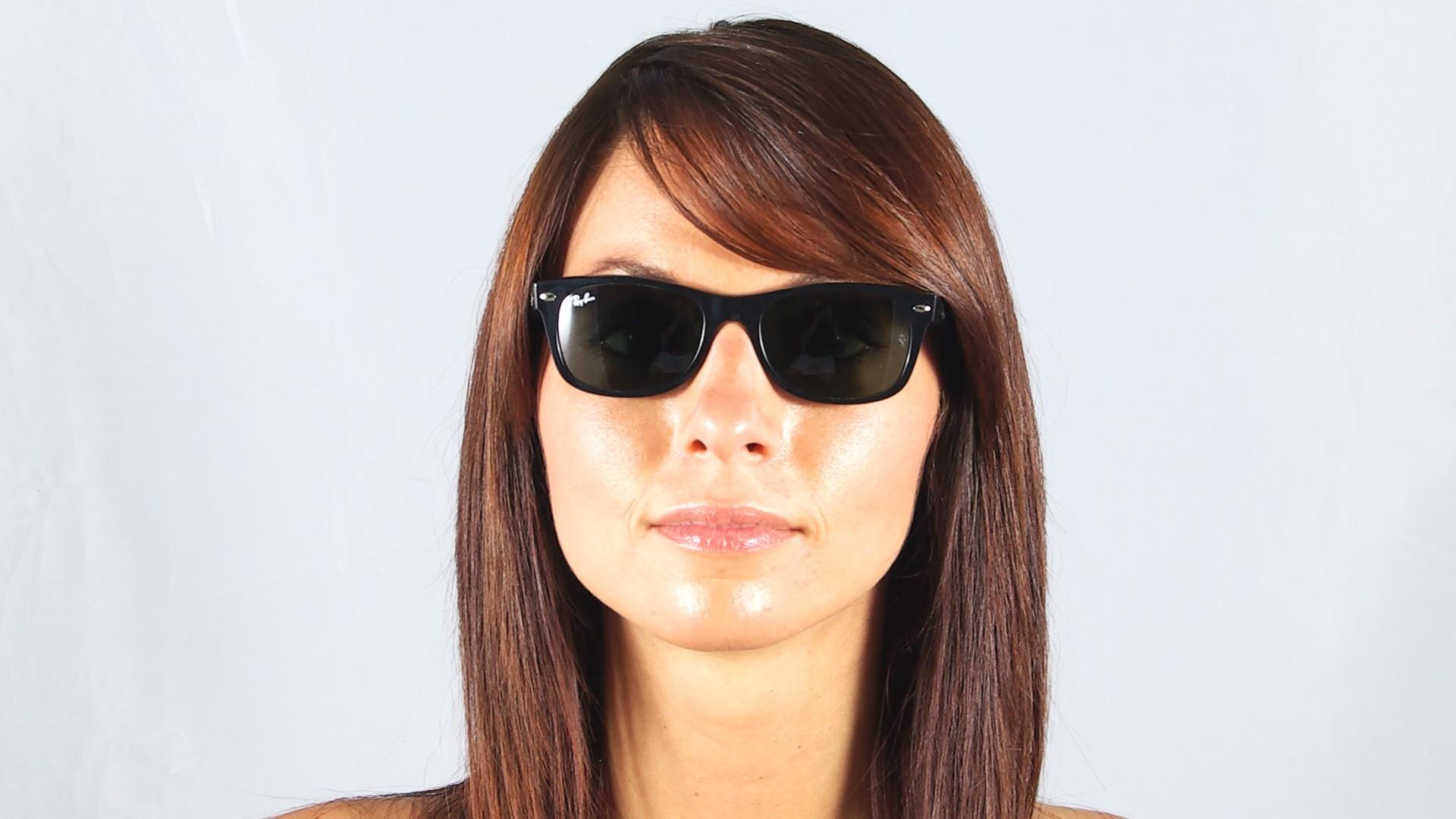 5fb03caf9 Sunglasses Ray-Ban New Wayfarer Black RB2132 901 52-18 Small