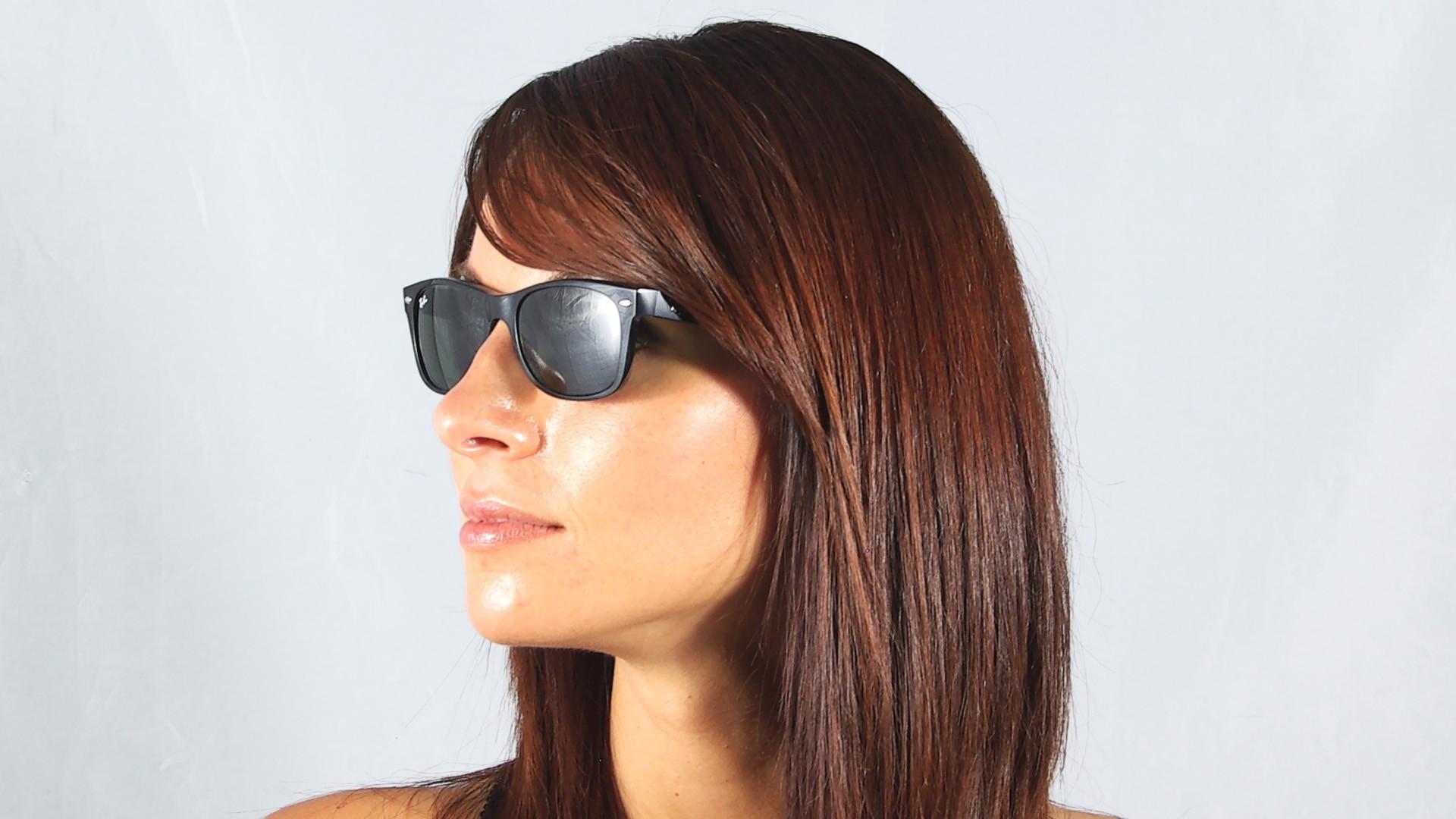 6f04daca4a Sunglasses Ray-Ban New Wayfarer Black RB2132 901 52-18 Medium