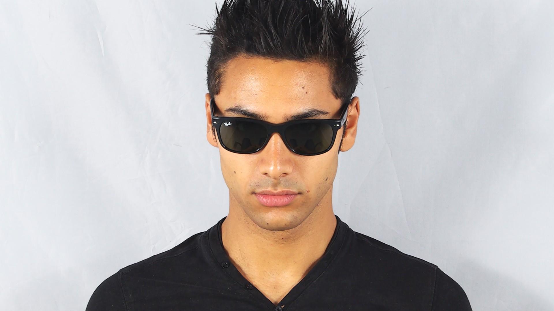 3e6dc81df2b Sunglasses Ray-Ban New Wayfarer Black RB2132 901L 55-18 Large
