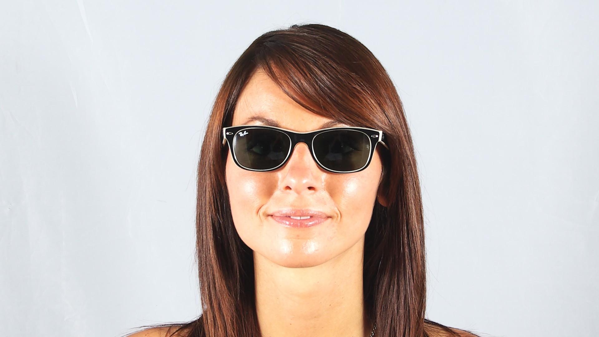 a1372ba4ea5 Sunglasses Ray-Ban New Wayfarer Black RB2132 875 52-18 Medium
