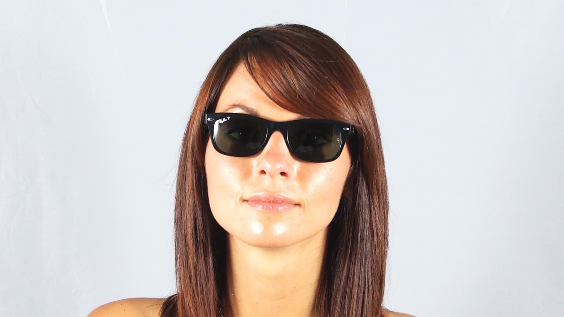 8a7509e493 Sunglasses Ray-Ban New Wayfarer Black G15 RB2132 901 58 52-18 Medium  Polarized