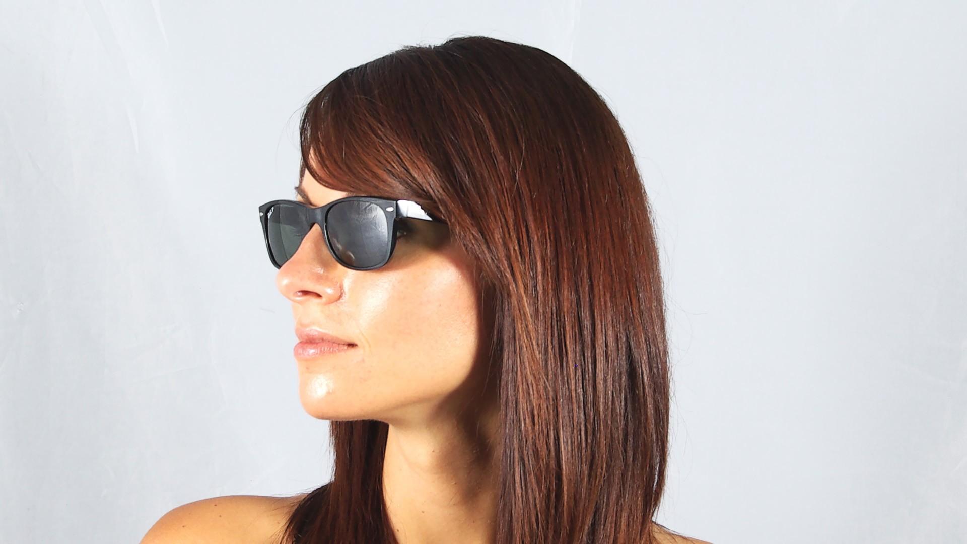 4fc035854d Sunglasses Ray-Ban New Wayfarer Black G15 RB2132 901 58 52-18 Medium  Polarized