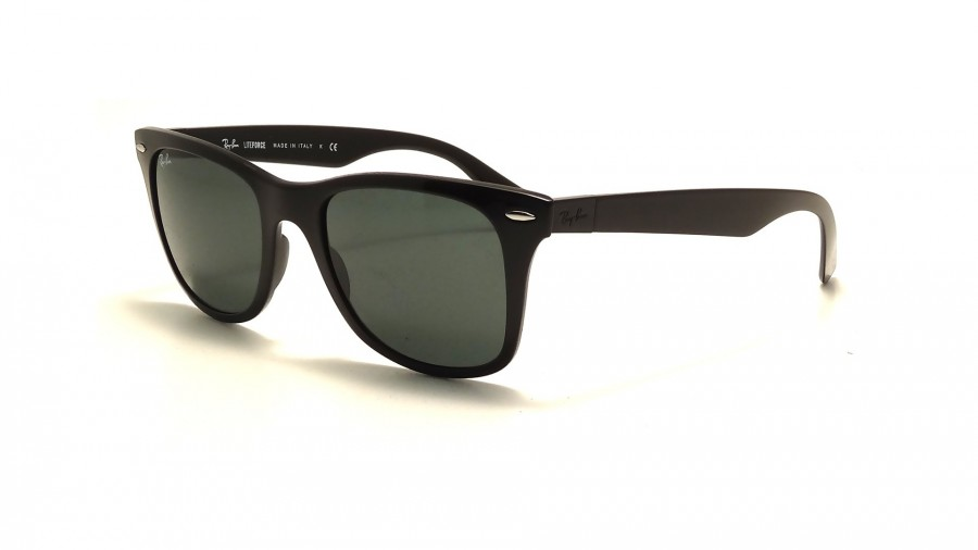 Ray Ban Wayfarer liteforce RB4195 601/71 52 black / green xcR96s