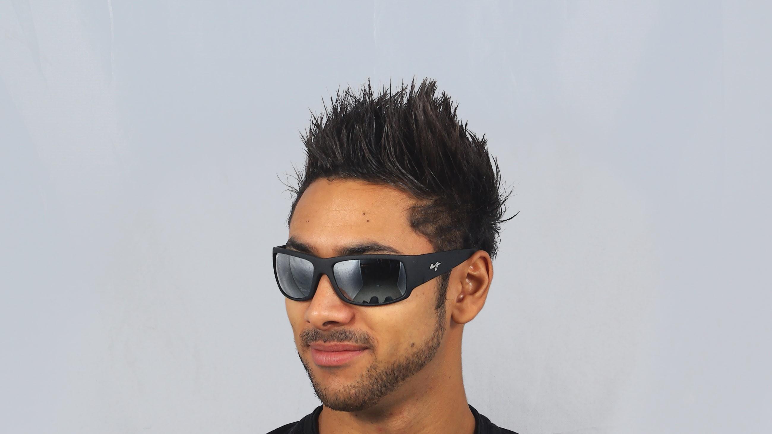 0045bfdcae8 Sunglasses Maui Jim World Cup Black 266-02MR 64-19 Large Polarized Mirror