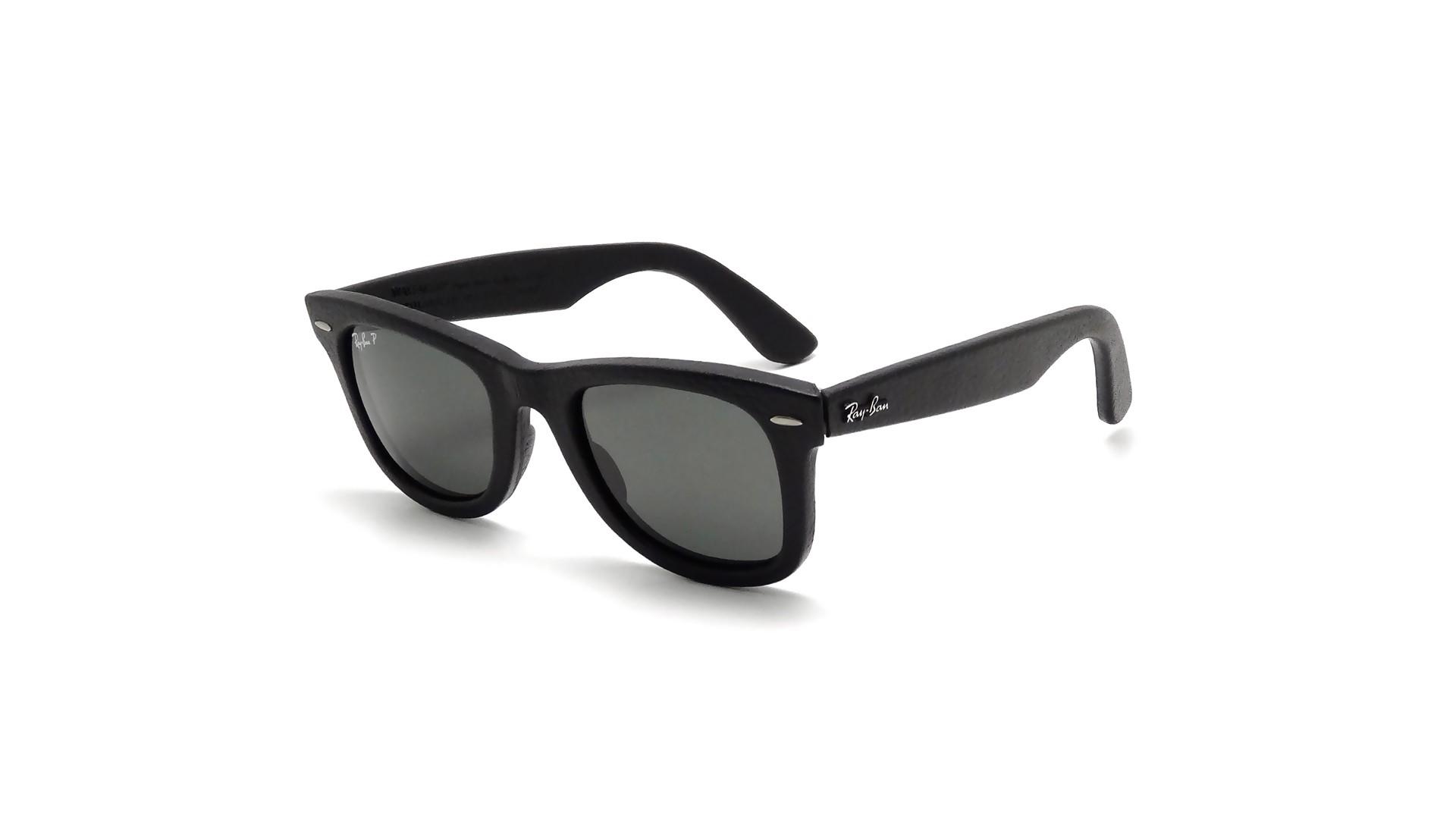 2f90f8f4e5e Sunglasses Ray-Ban Original Wayfarer Genuine Leather Black RB2140QM 1152 N5  50-22 Medium Polarized