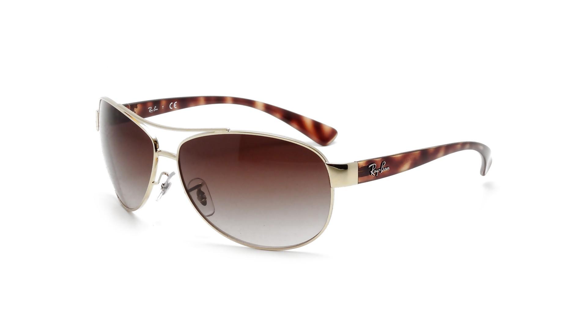 4e112454225 Sunglasses Ray-Ban RB3386 001 13 63-13 Gold Medium Gradient