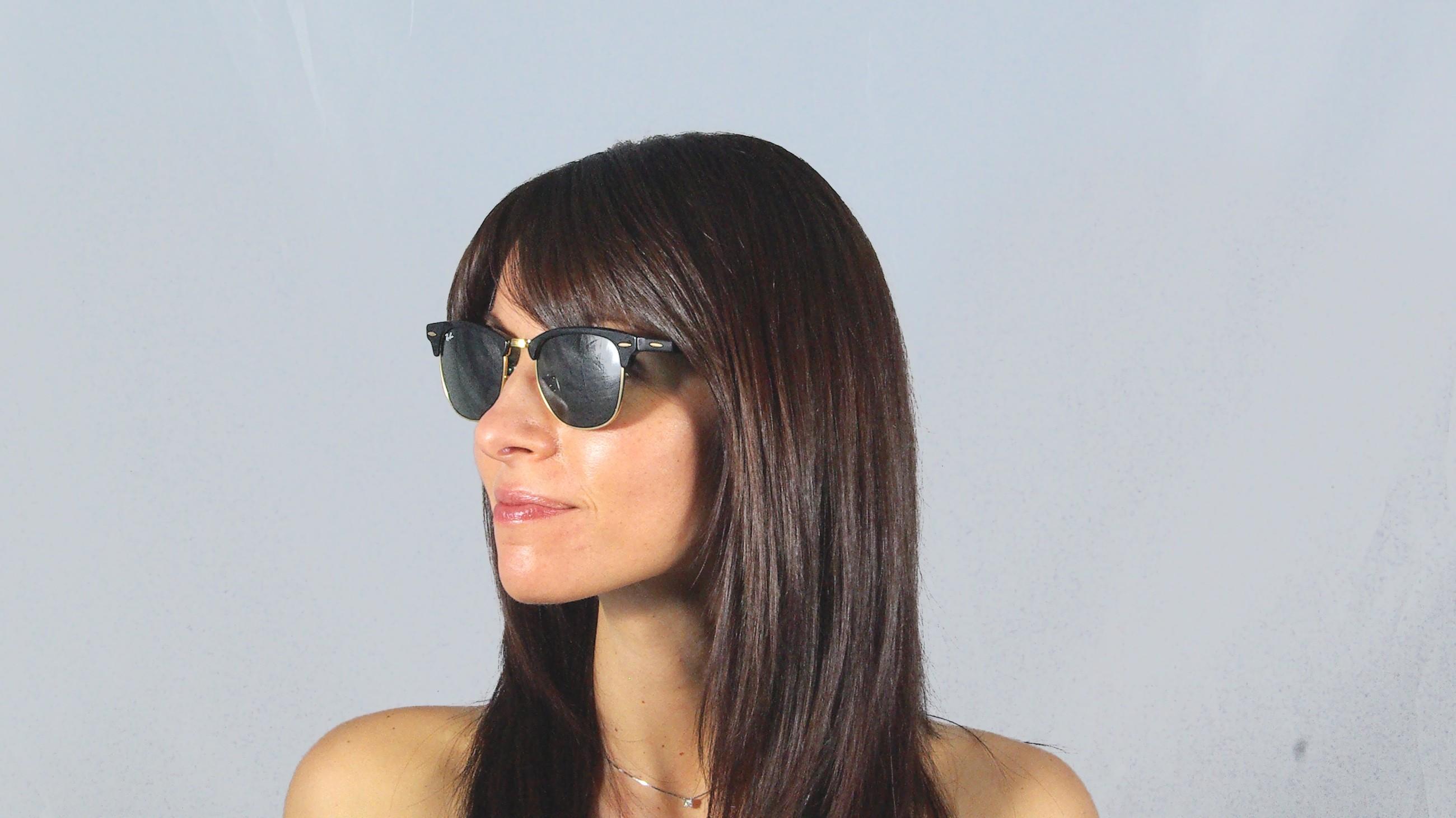 af25a6dfddd Sunglasses Ray-Ban Clubmaster Classic Black RB3016 W0365 51-21 Medium