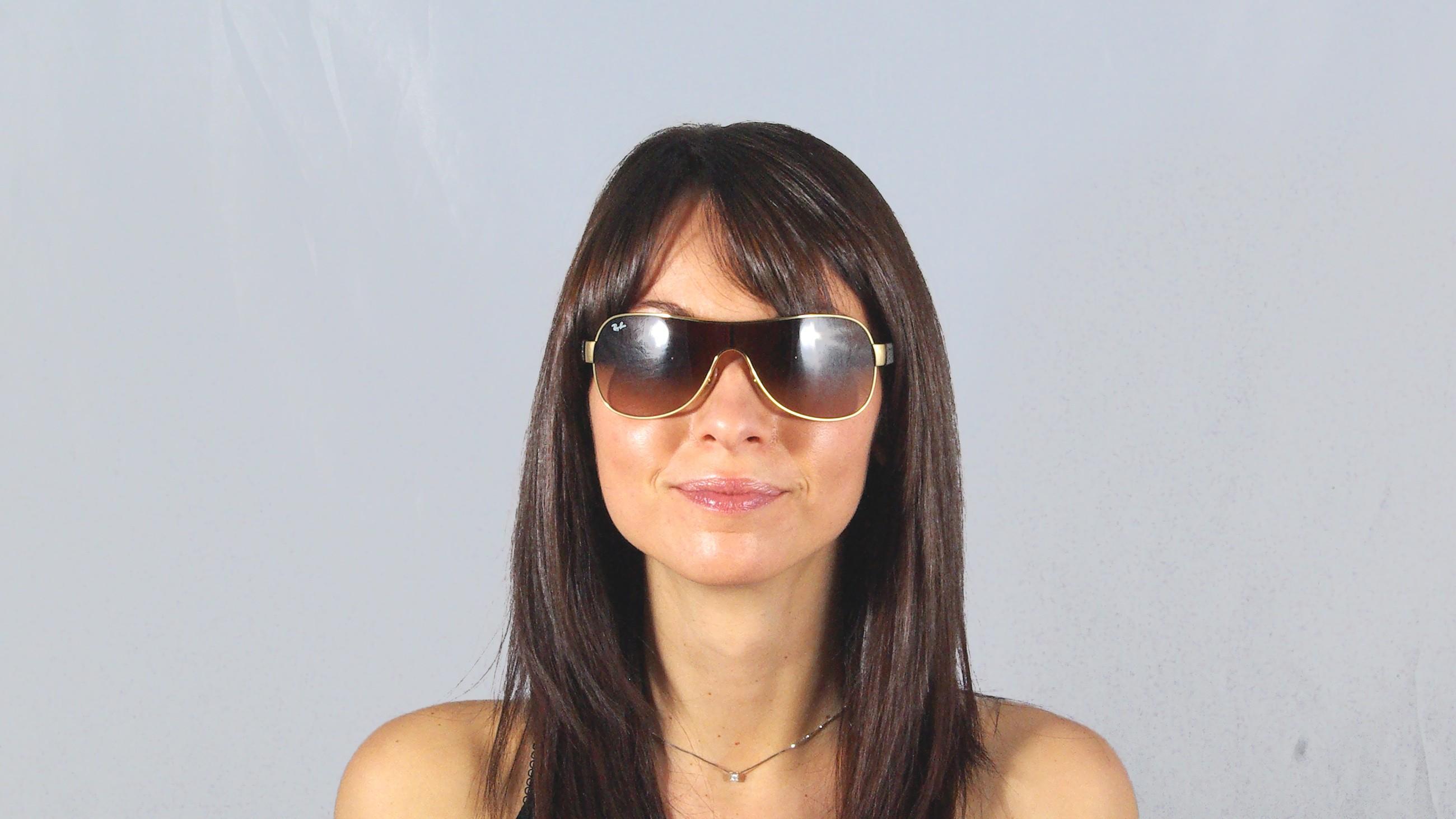 1aa7e2910f Sunglasses Ray-Ban Masque Emma Brown RB3471 001 13 32 Small Gradient