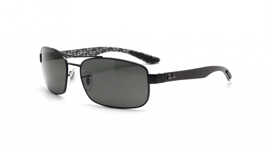 16c6da4ad6c03 Sunglasses Ray-Ban Fibre Carbon Black RB8316 002 N5 62-18 Large Polarized