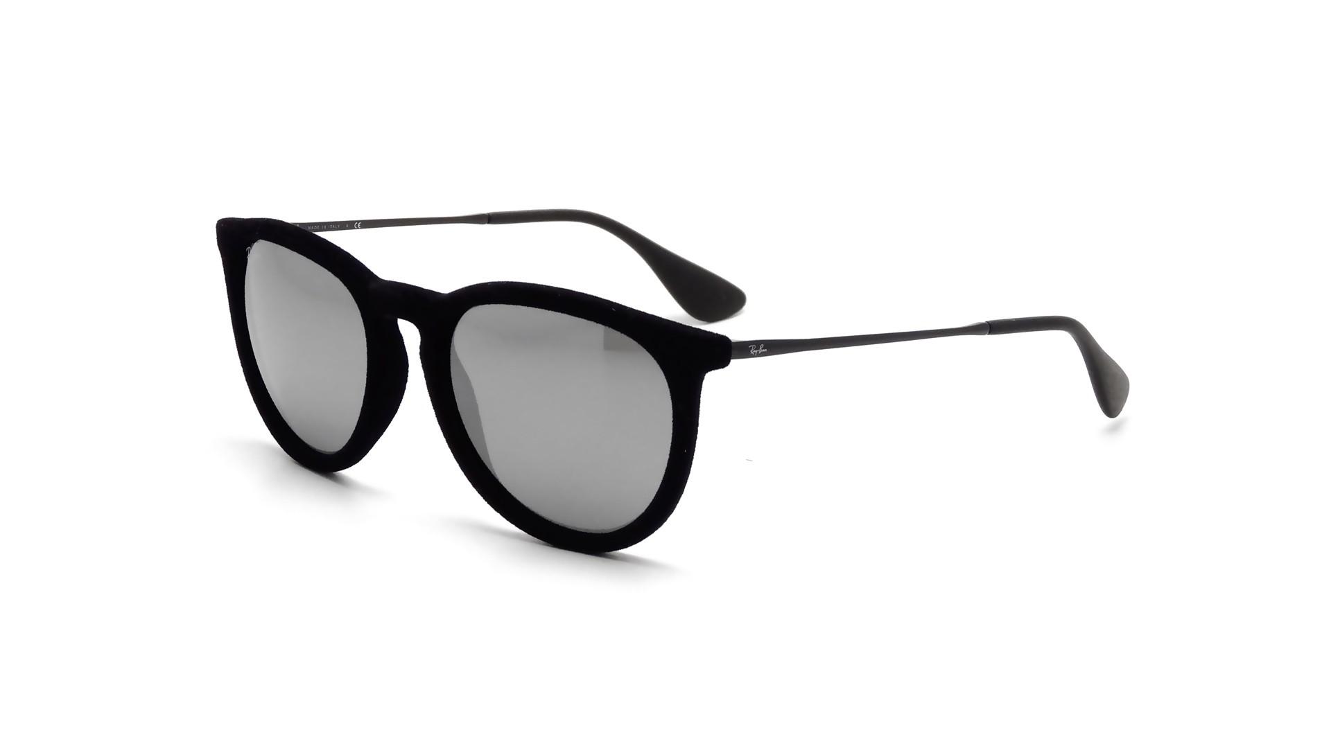 7e34d60ee8 Sunglasses Ray-Ban Erika Velvet Edition Black RB4171 6075 6G 54-18 Medium  Mirror