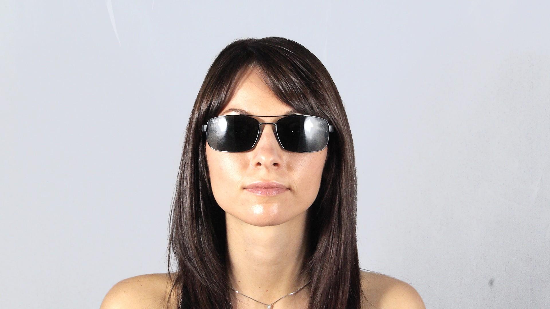 417de40fd94 Sunglasses Ray-Ban Fibre Carbon Black RB8316 002 N5 62-18 Large Polarized