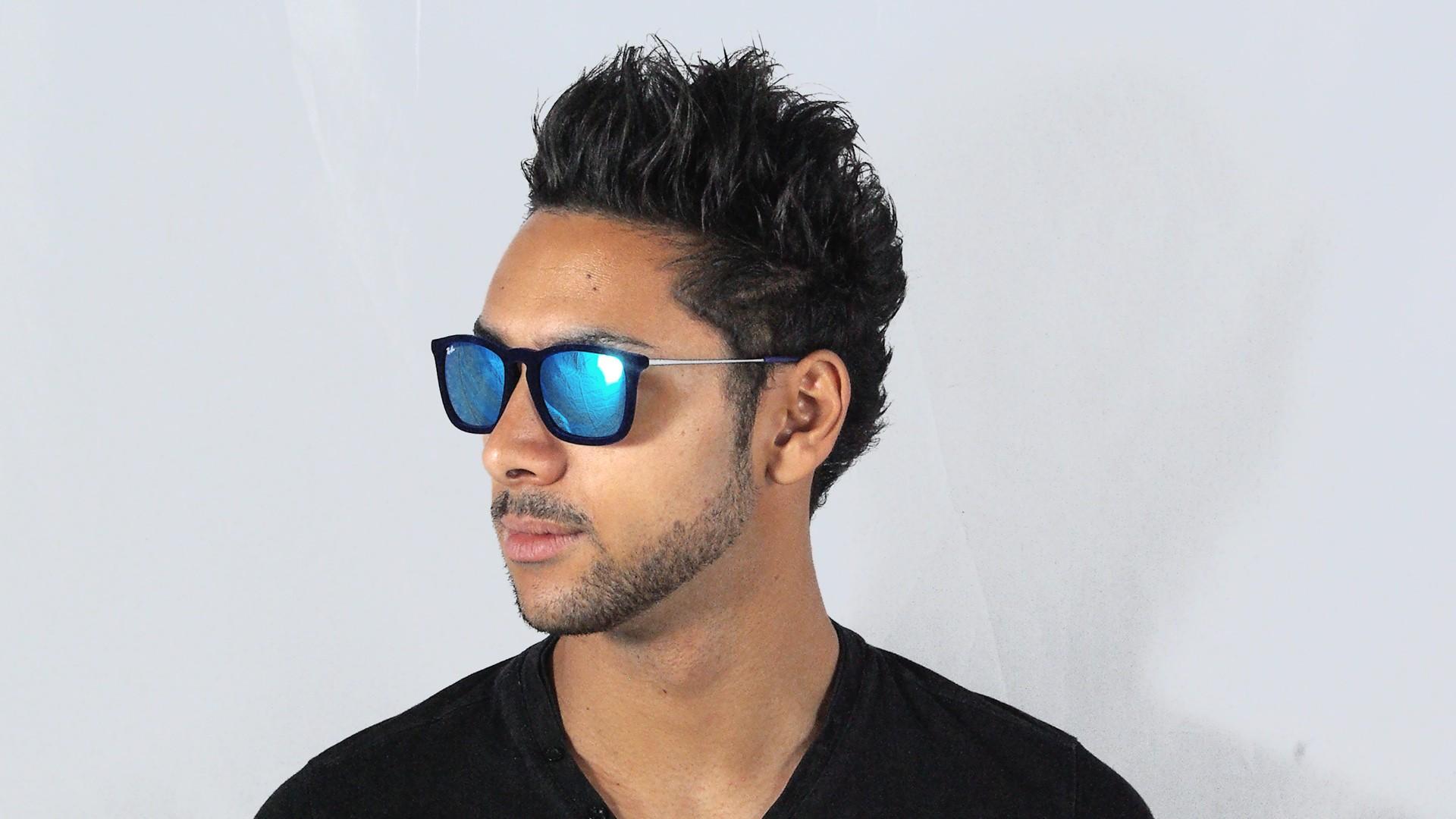 5f9fca88810 Sunglasses Ray-Ban Chris Velvet Edition Blue RB4187 6081 55 54-18 Medium  Mirror