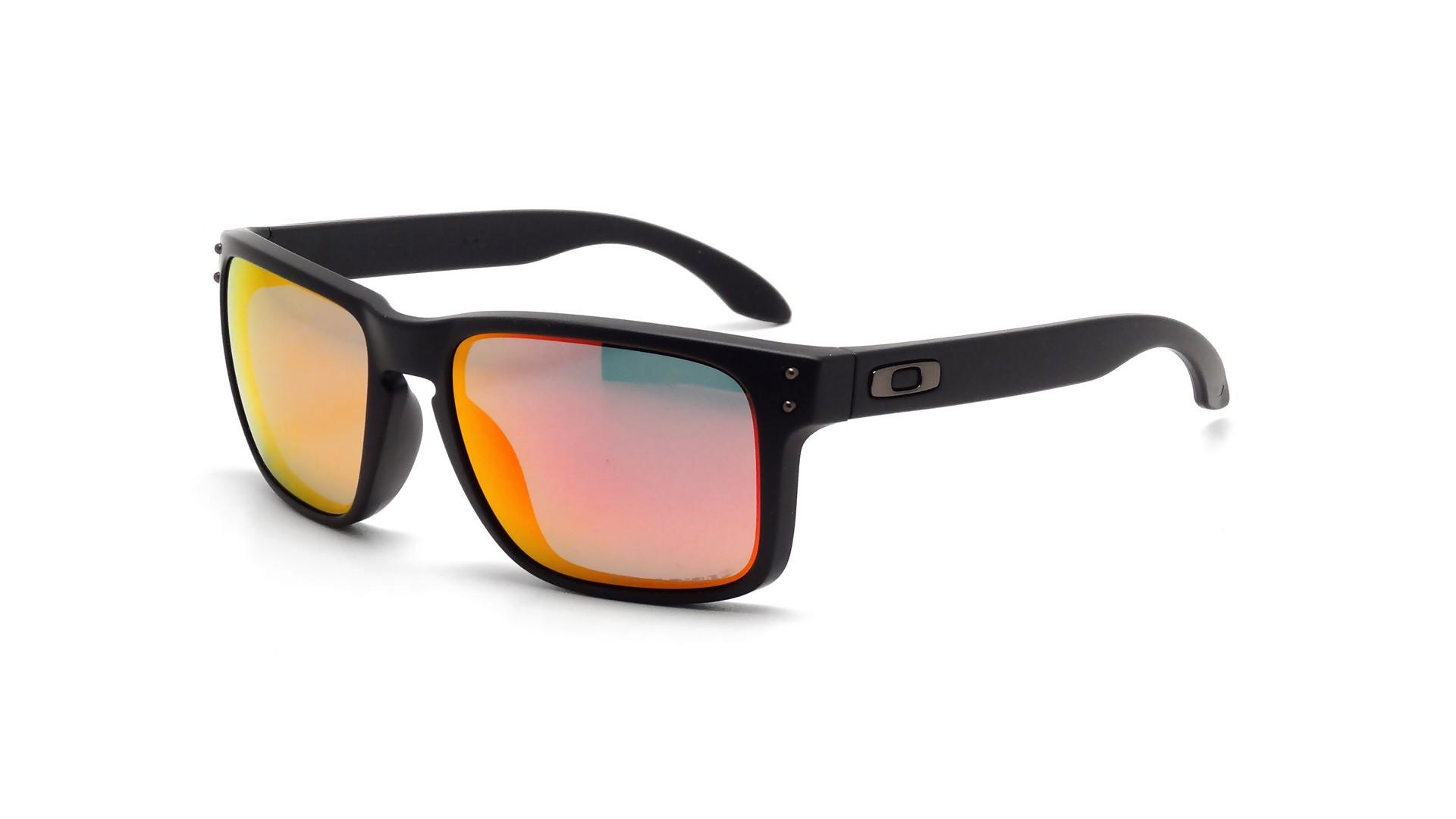 aa261e5dfc Sunglasses Oakley Holbrook Black Matte Iridium OO9102 51 55-18 Medium Polarized  Mirror